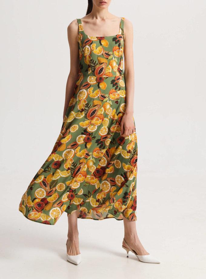 Платье на широких бретелях в принт SHKO_20013002, фото 1 - в интернет магазине KAPSULA