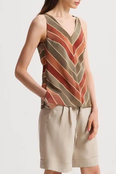 Шелковая блуза с V-вырезом SHKO_20014002, фото 1 - в интеренет магазине KAPSULA