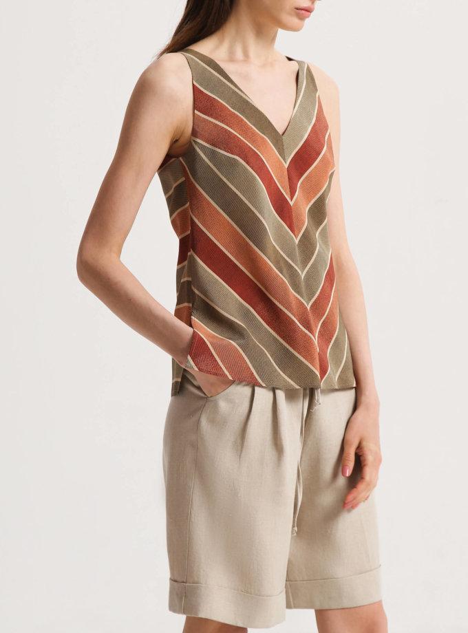 Шелковая блуза с V-вырезом SHKO_20014002, фото 1 - в интернет магазине KAPSULA