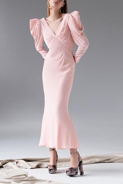 Шелковое платье с открытой спиной SKR_10126, фото 1 - в интеренет магазине KAPSULA