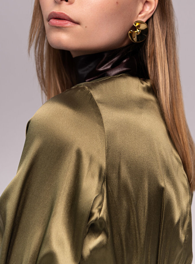 Шелковое платье с поясом SKR_10128, фото 1 - в интеренет магазине KAPSULA
