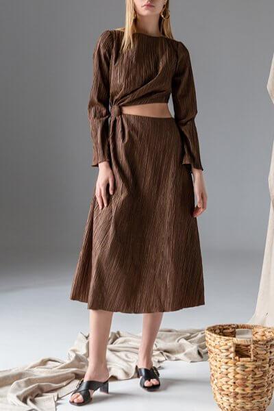 Платье с разрезом на талии SKR_10129, фото 1 - в интеренет магазине KAPSULA