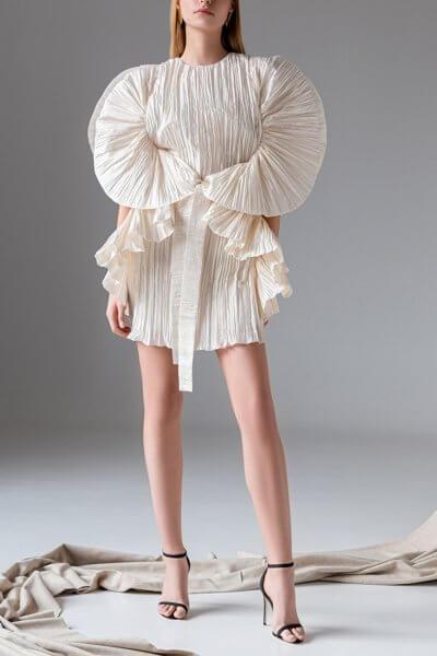 Платье плиссе из шелка SKR_10131, фото 1 - в интеренет магазине KAPSULA