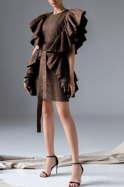 Платье плиссе из шелка SKR_10132, фото 1 - в интеренет магазине KAPSULA