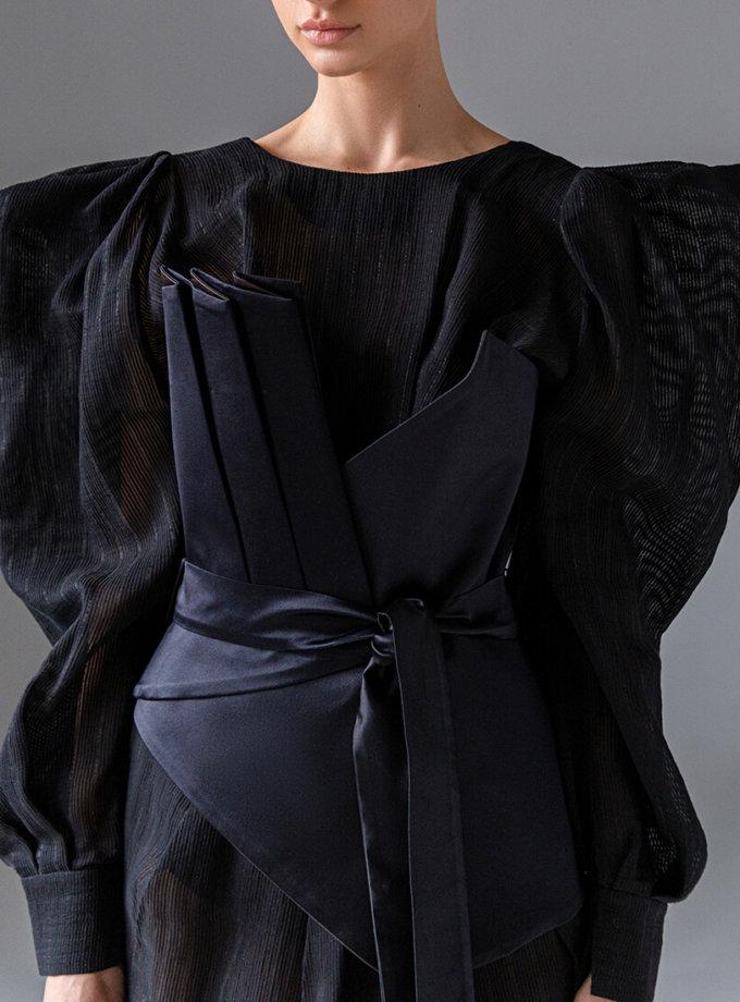 Шелковое платье с разрезом SKR_10133, фото 1 - в интеренет магазине KAPSULA