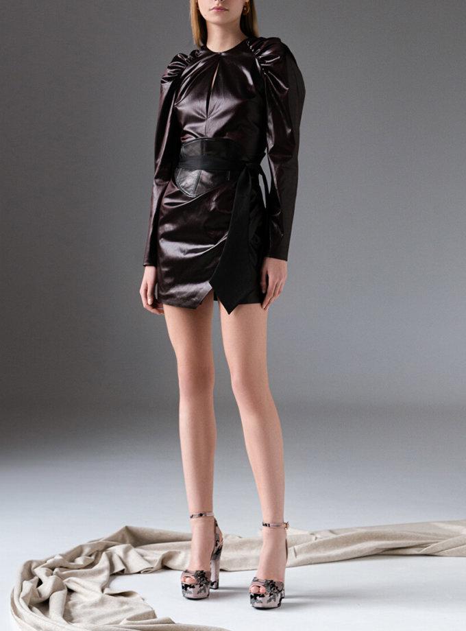 Платье мини из эко-кожи SKR_10134, фото 1 - в интеренет магазине KAPSULA