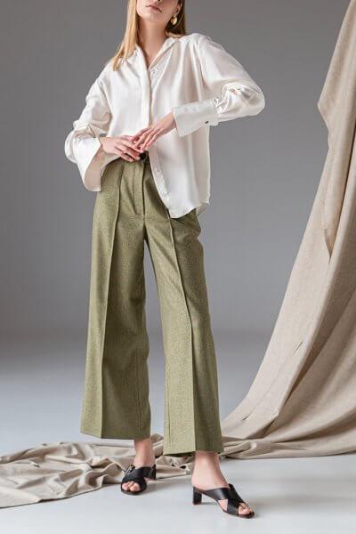 Легкие брюки из шерсти SKR_30058, фото 1 - в интеренет магазине KAPSULA