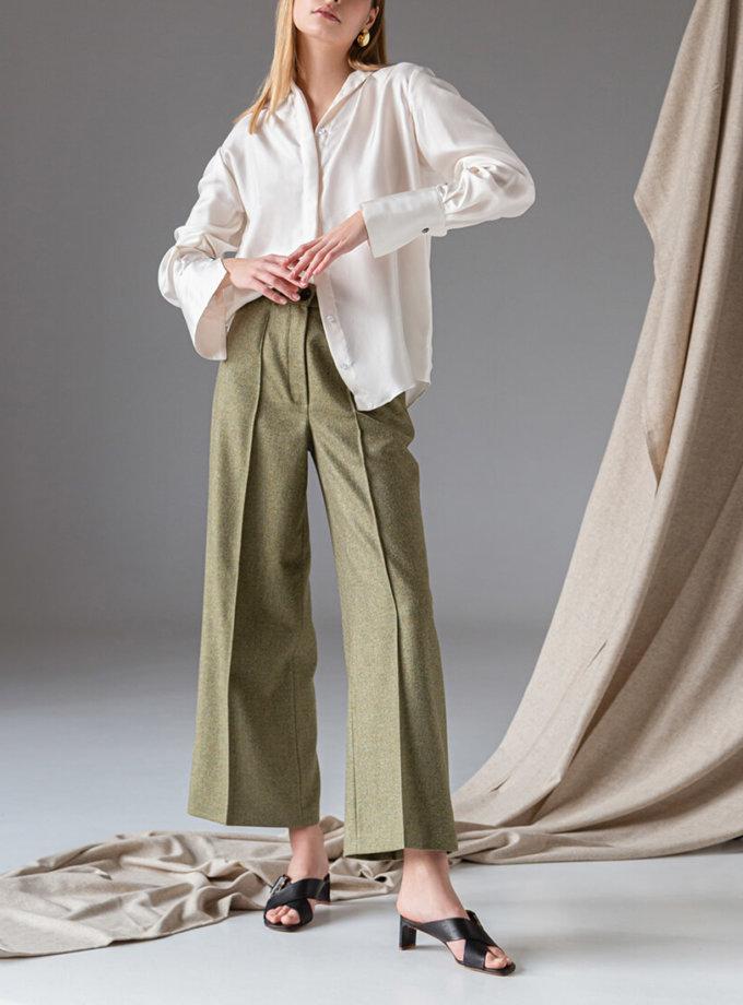 Легкие брюки из шерсти SKR_30058, фото 1 - в интернет магазине KAPSULA