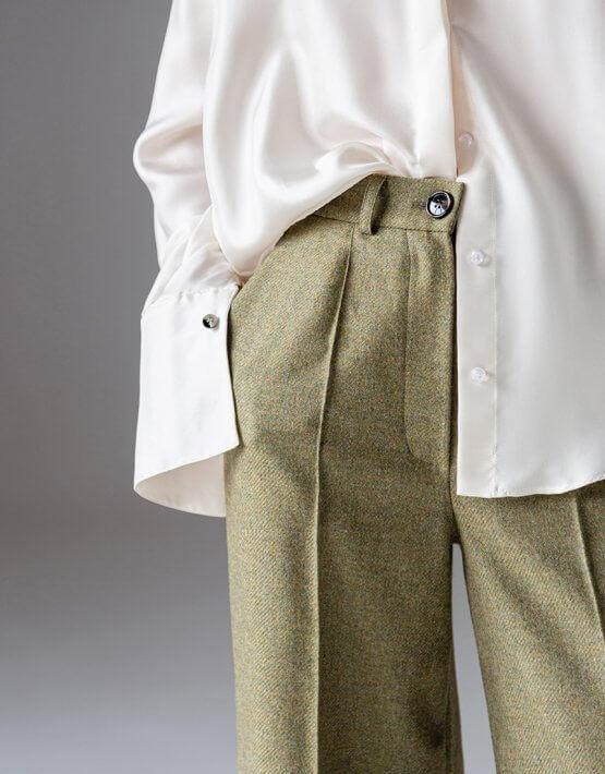 Легкие брюки из шерсти SKR_30058, фото 3 - в интеренет магазине KAPSULA