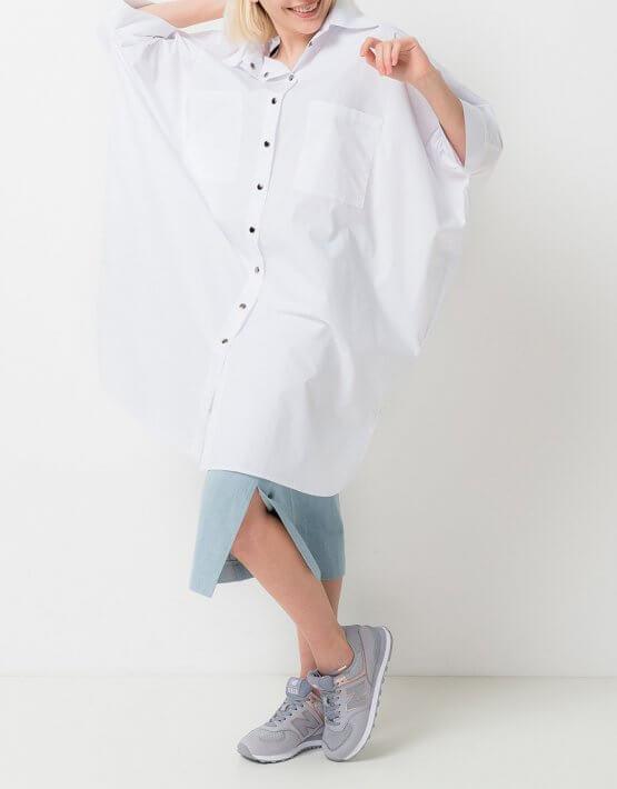 Платье-рубашка из хлопка TFAM_AN21, фото 5 - в интеренет магазине KAPSULA