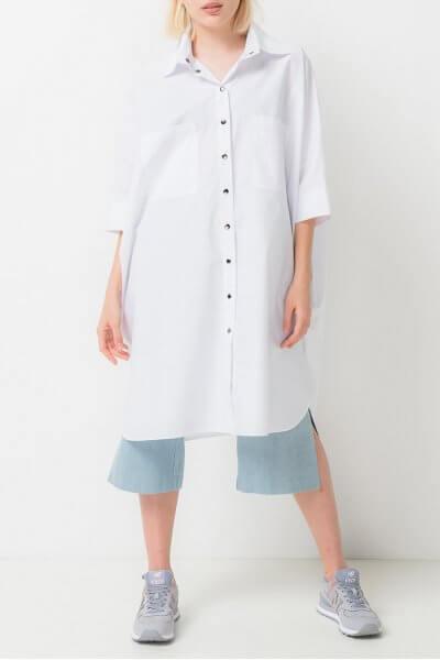 Платье-рубашка из хлопка TFAM_AN21, фото 1 - в интеренет магазине KAPSULA