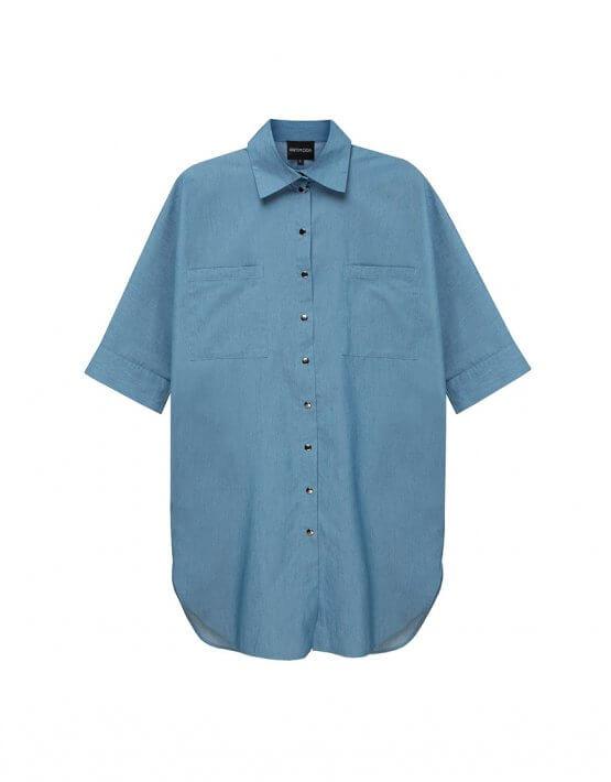 Платье-рубашка из хлопка TFAM_AN23, фото 6 - в интеренет магазине KAPSULA