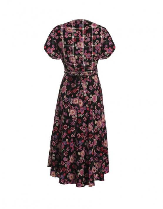 Платье миди в цветы NM_239, фото 3 - в интеренет магазине KAPSULA