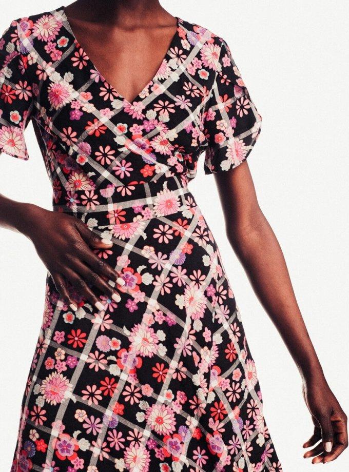 Платье миди в цветы NM_239, фото 1 - в интеренет магазине KAPSULA