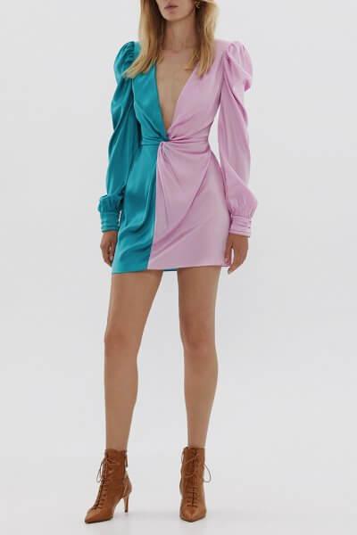 Двухцветное платье из шелка ARS_SS20_6, фото 6 - в интеренет магазине KAPSULA