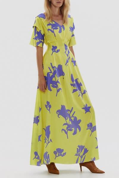 Шелковое платье с защипами ARS_SS20_18, фото 1 - в интеренет магазине KAPSULA