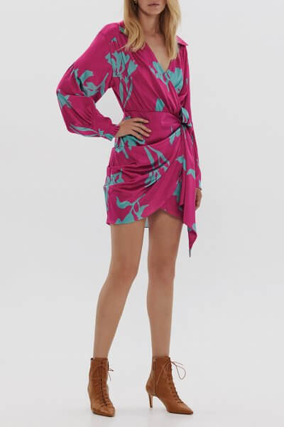 Шелковое платье в цветы ARS_SS20_12, фото 1 - в интеренет магазине KAPSULA