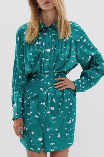 Удлиненная блуза с поясом из шелка ARS_SS20_19, фото 2 - в интеренет магазине KAPSULA