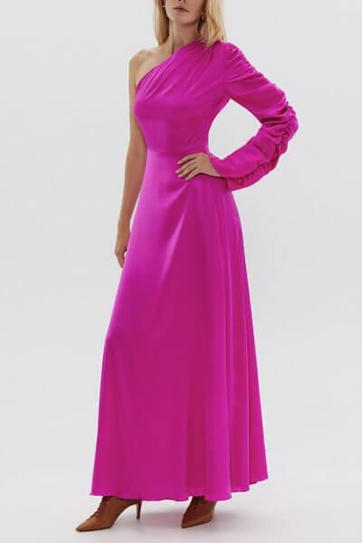Шелковое платье на одно плечо ARS_SS20_2, фото 5 - в интеренет магазине KAPSULA