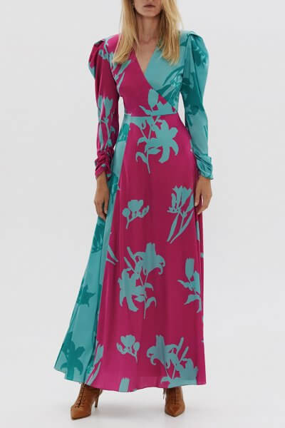 Двухцветное платье из шелка ARS_SS20_8, фото 1 - в интеренет магазине KAPSULA