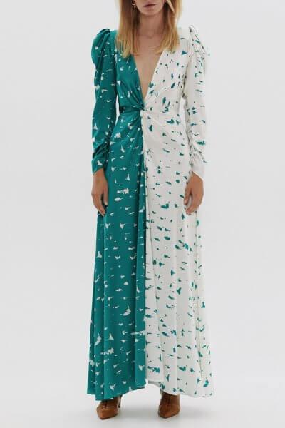 Двухцветное платье из шелка ARS_SS20_7, фото 1 - в интеренет магазине KAPSULA