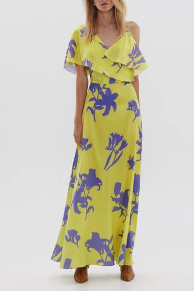Шелковое платье с воланом ARS_SS20_17, фото 3 - в интеренет магазине KAPSULA