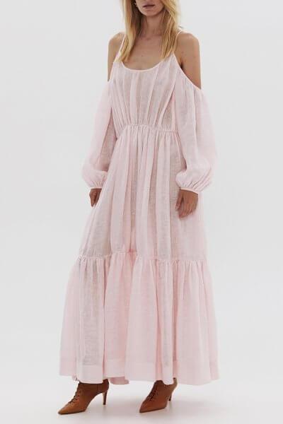 Льнянное платье на тонких бретелях ARS_SS20_4, фото 1 - в интеренет магазине KAPSULA