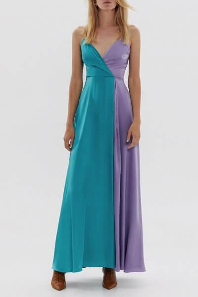 Двухцветное платье макси ARS_SS20_13, фото 4 - в интеренет магазине KAPSULA