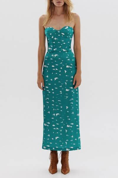 Платье-корсет из шелка в принт ARS_SS20_16, фото 5 - в интеренет магазине KAPSULA