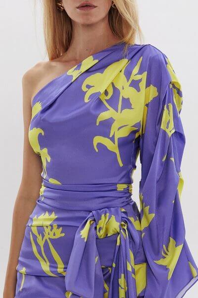 Шелковая блуза на одно плечо ARS_SS20_23, фото 1 - в интеренет магазине KAPSULA