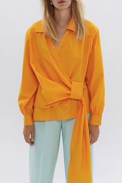 Хлопковая блуза с хвостом ARS_SS20_20, фото 1 - в интеренет магазине KAPSULA