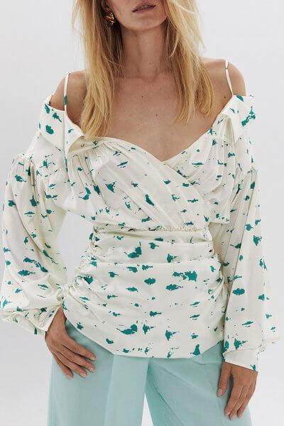 Шелковая блуза с открытими плечами ARS_SS20_24, фото 1 - в интеренет магазине KAPSULA