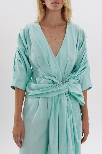Льняная блуза с вышивкой ARS_SS20_22, фото 4 - в интеренет магазине KAPSULA