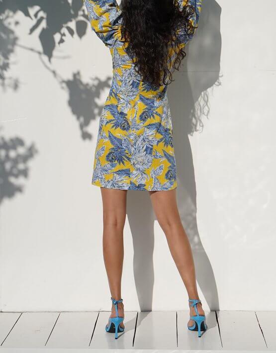 Льняное платье Iza MY4520, фото 4 - в интеренет магазине KAPSULA