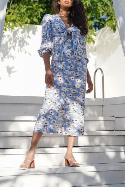 Льняное платье Mary MY4620, фото 4 - в интеренет магазине KAPSULA