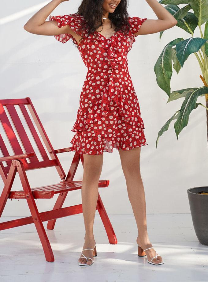 Шифоновое платье с воланами Ella MY4819, фото 1 - в интернет магазине KAPSULA