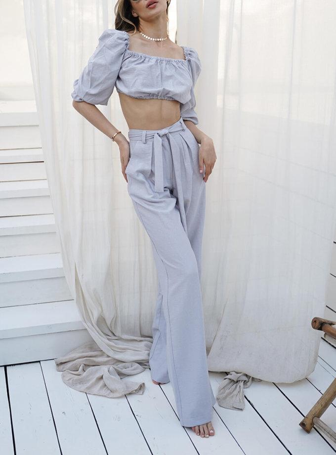 Льняной костюм Malena MY3920-1, фото 1 - в интеренет магазине KAPSULA