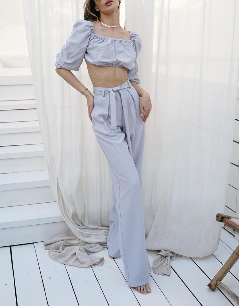 Льняной костюм Malena MY3920-1, фото 1 - в интернет магазине KAPSULA