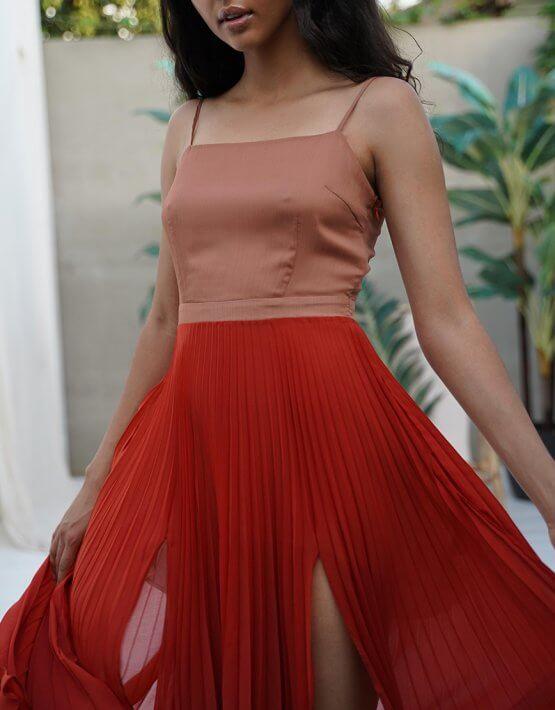 Шифоновое платье Valeriya MY5619-1, фото 3 - в интеренет магазине KAPSULA