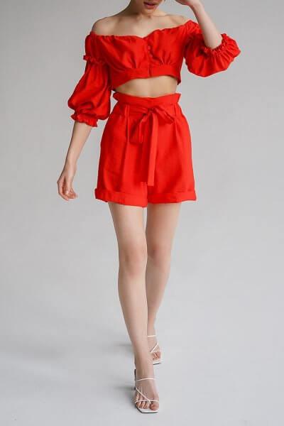 Льняной костюм с шортами Aveira MY3719-1, фото 1 - в интеренет магазине KAPSULA