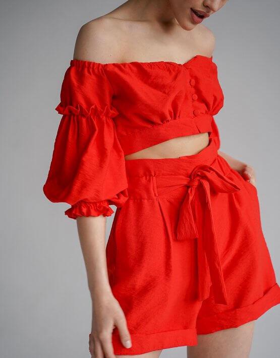 Льняной костюм с шортами Aveira MY3719-1, фото 6 - в интеренет магазине KAPSULA