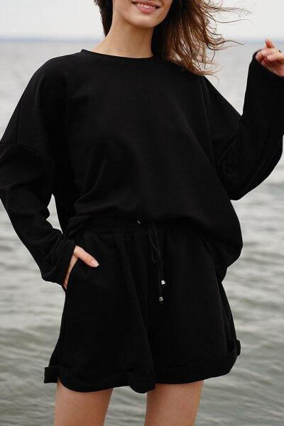 Хлопковый костюм с шортами MY4420-1, фото 1 - в интеренет магазине KAPSULA