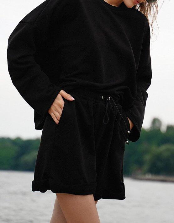 Хлопковый костюм с шортами MY4420-1, фото 6 - в интеренет магазине KAPSULA