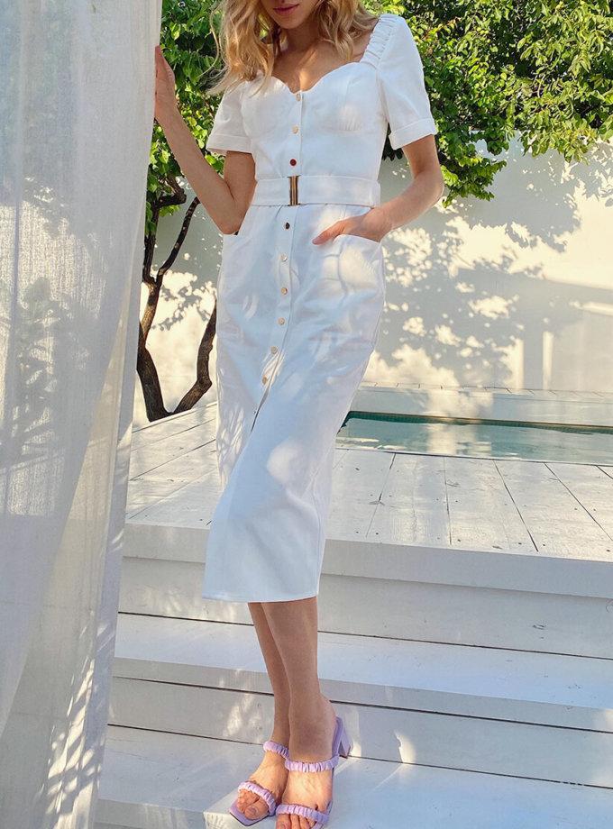 Джинсовое платье с бюстье KS_SS-22-40, фото 1 - в интеренет магазине KAPSULA
