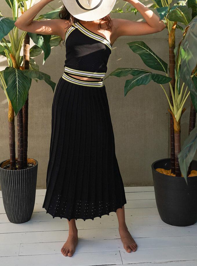 Хлопковый костюм с юбкой плиссе JDW_J.D.1003, фото 1 - в интеренет магазине KAPSULA