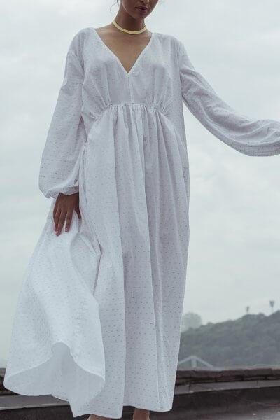 Платье свободного силуэта из хлопка NM_390, фото 1 - в интеренет магазине KAPSULA