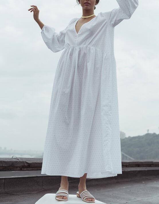 Платье свободного силуэта из хлопка NM_390, фото 12 - в интеренет магазине KAPSULA