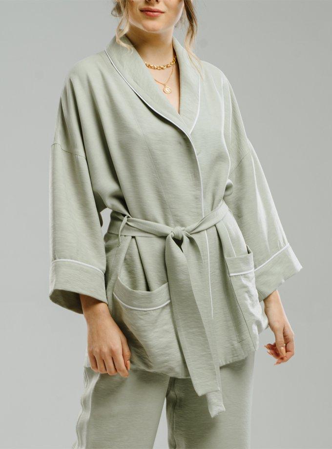 Легкое кимоно с поясом MNTK_MTS20K4, фото 1 - в интернет магазине KAPSULA