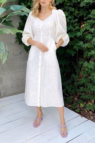 Платье с пышным рукавом KS_SS-22-39, фото 3 - в интеренет магазине KAPSULA