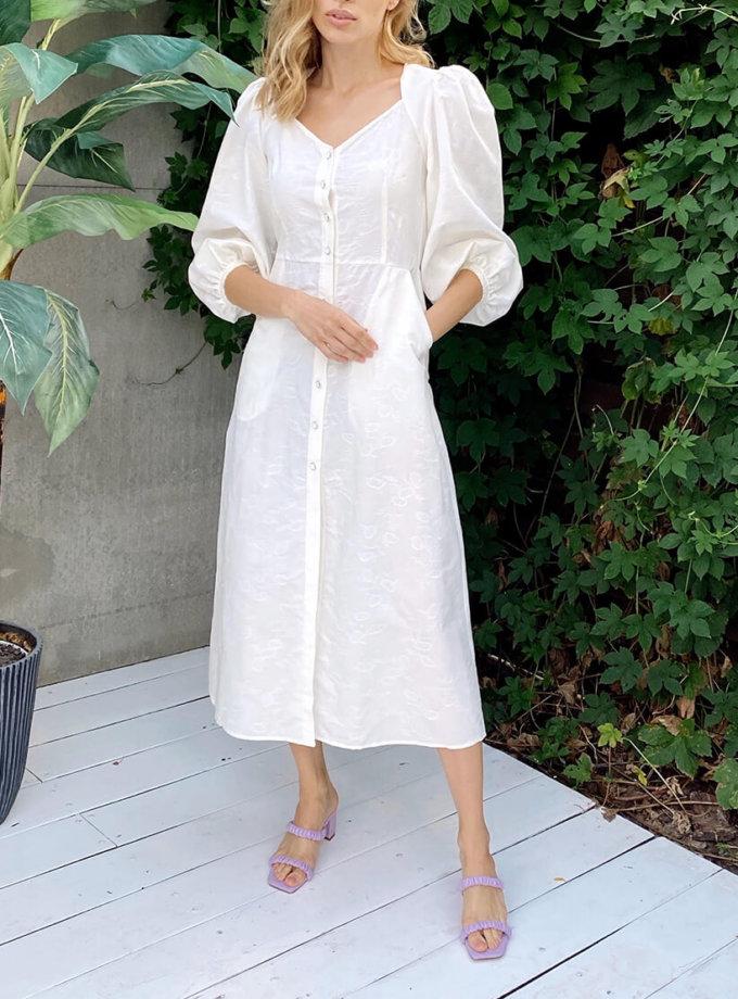 Платье с пышным рукавом KS_SS-22-39, фото 1 - в интернет магазине KAPSULA